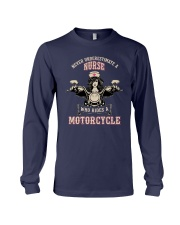 Underestimate A Nurse Rides A Motorcycle Shirt Long Sleeve Tee tile
