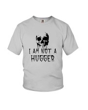 Skull I'm Not A Hugger Shirt Youth T-Shirt thumbnail
