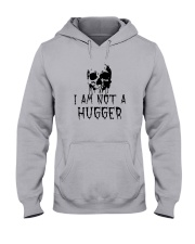 Skull I'm Not A Hugger Shirt Hooded Sweatshirt thumbnail