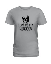 Skull I'm Not A Hugger Shirt Ladies T-Shirt thumbnail
