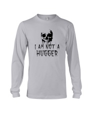 Skull I'm Not A Hugger Shirt Long Sleeve Tee thumbnail