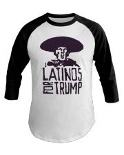 Three Stooges Latinos For Trump Shirt Baseball Tee thumbnail