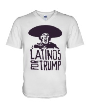 Three Stooges Latinos For Trump Shirt V-Neck T-Shirt thumbnail