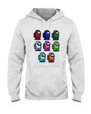Among Us Characters Shirt Hooded Sweatshirt thumbnail