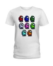 Among Us Characters Shirt Ladies T-Shirt thumbnail