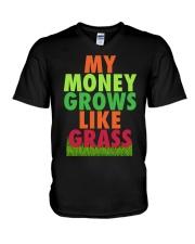 My Money Grows Like Grass Shirt V-Neck T-Shirt thumbnail