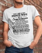 I Am A Proud Wife Of A Crazy Husband Shirt Classic T-Shirt apparel-classic-tshirt-lifestyle-26