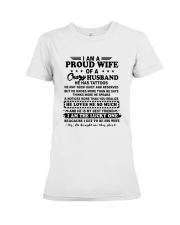 I Am A Proud Wife Of A Crazy Husband Shirt Premium Fit Ladies Tee thumbnail