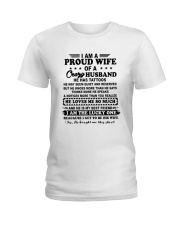 I Am A Proud Wife Of A Crazy Husband Shirt Ladies T-Shirt thumbnail