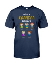 This Grandpa Belong To Emma Liam Noah Shirt Classic T-Shirt tile