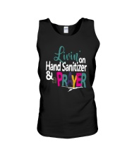 Livin' On Hand Sanitizer A Prayer Shirt Unisex Tank thumbnail