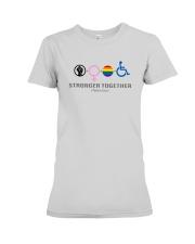 Black Woman Lgbt Stronger Together Shirt Premium Fit Ladies Tee thumbnail