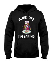 Unicorn Fuck Off Im Baking Shirt Hooded Sweatshirt thumbnail