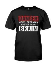 Danger Mouth Operates Faster Than Brain Shirt Premium Fit Mens Tee thumbnail