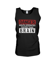 Danger Mouth Operates Faster Than Brain Shirt Unisex Tank thumbnail