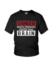 Danger Mouth Operates Faster Than Brain Shirt Youth T-Shirt thumbnail