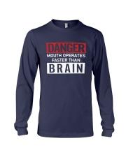 Danger Mouth Operates Faster Than Brain Shirt Long Sleeve Tee thumbnail