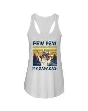 Vintage Pitbull Bananas Pew Pew Madafakas Shirt Ladies Flowy Tank thumbnail