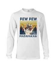 Vintage Pitbull Bananas Pew Pew Madafakas Shirt Long Sleeve Tee thumbnail