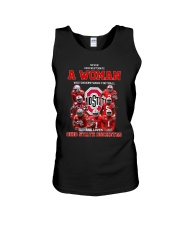 Woman Football And Love Ohio State Buckeyes Shirt Unisex Tank tile