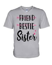 No Friend Bestie Sister Shirt V-Neck T-Shirt thumbnail