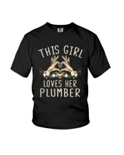 This Girl Loves Her Plumber Shirt Youth T-Shirt thumbnail