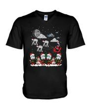 Christmas Star Wars Under Snow Shirt V-Neck T-Shirt thumbnail