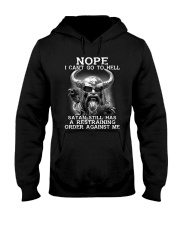 Viking Nope I Can't Go To Hell Satan Shirt Hooded Sweatshirt tile