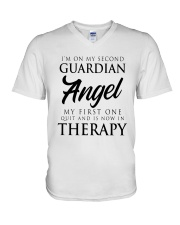 Im On My Second Guardian Angel My First One Shirt V-Neck T-Shirt thumbnail