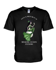 Just A Mer Witch Making Ocean Potions Shirt V-Neck T-Shirt tile