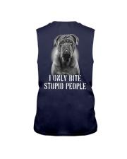 Pug I Only Bite Stupid People Shirt Sleeveless Tee thumbnail
