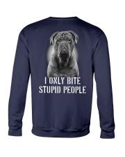 Pug I Only Bite Stupid People Shirt Crewneck Sweatshirt thumbnail