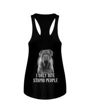 Pug I Only Bite Stupid People Shirt Ladies Flowy Tank thumbnail