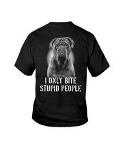 Pug I Only Bite Stupid People Shirt Youth T-Shirt thumbnail