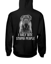 Pug I Only Bite Stupid People Shirt Hooded Sweatshirt thumbnail