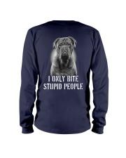 Pug I Only Bite Stupid People Shirt Long Sleeve Tee thumbnail