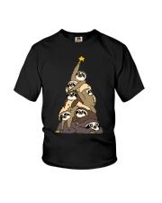 Sloth Christmas Tree Shirt Youth T-Shirt thumbnail