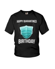 Happy Quarantined Birthday T Shirt Mask Youth T-Shirt thumbnail