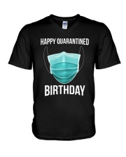Happy Quarantined Birthday T Shirt Mask V-Neck T-Shirt thumbnail