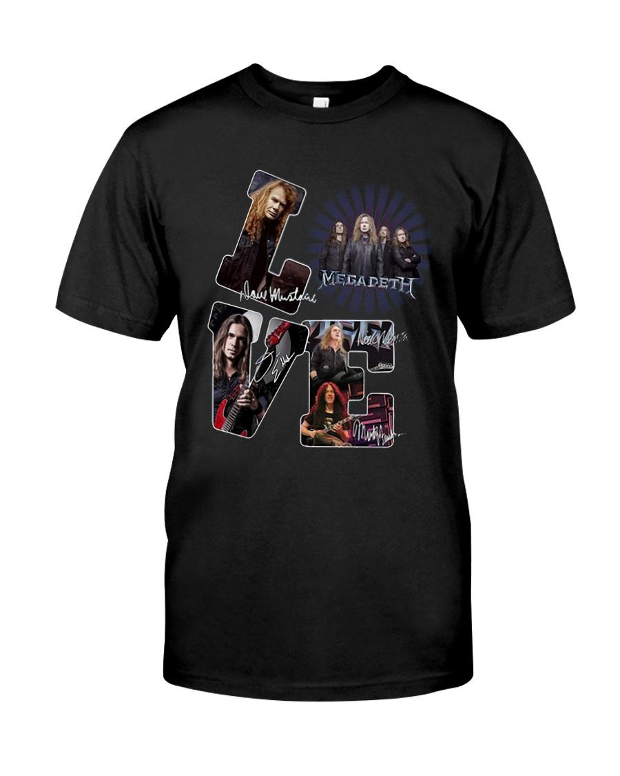 Love Megadeth Signatures Shirt Classic T-Shirt