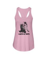 Tattoos Cats And Cats Shirt Ladies Flowy Tank thumbnail