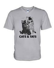 Tattoos Cats And Cats Shirt V-Neck T-Shirt thumbnail