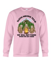 Sloth Hiking Team We Will Get There There Shirt Crewneck Sweatshirt thumbnail