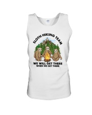 Sloth Hiking Team We Will Get There There Shirt Unisex Tank tile