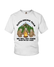 Sloth Hiking Team We Will Get There There Shirt Youth T-Shirt tile