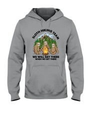 Sloth Hiking Team We Will Get There There Shirt Hooded Sweatshirt tile