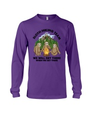 Sloth Hiking Team We Will Get There There Shirt Long Sleeve Tee thumbnail