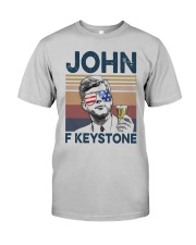 Vintage Drinking Beer John F Keystone Shirt Classic T-Shirt tile