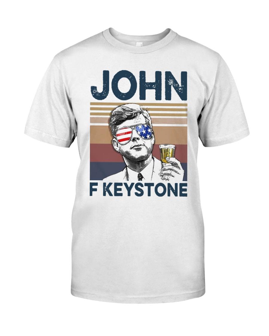 Vintage Drinking Beer John F Keystone Shirt Classic T-Shirt