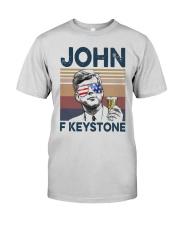 Vintage Drinking Beer John F Keystone Shirt Premium Fit Mens Tee thumbnail